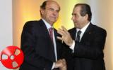Bersani a congresso Idv abbraccio con Di Pietro