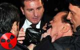Berlusconi ferito al volto a Milano