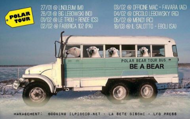 "RIPARTONO I ""VISUAL LIVE"" DI BE A BEAR, TUTTE LE DATE DEL ""POLAR TOUR"""